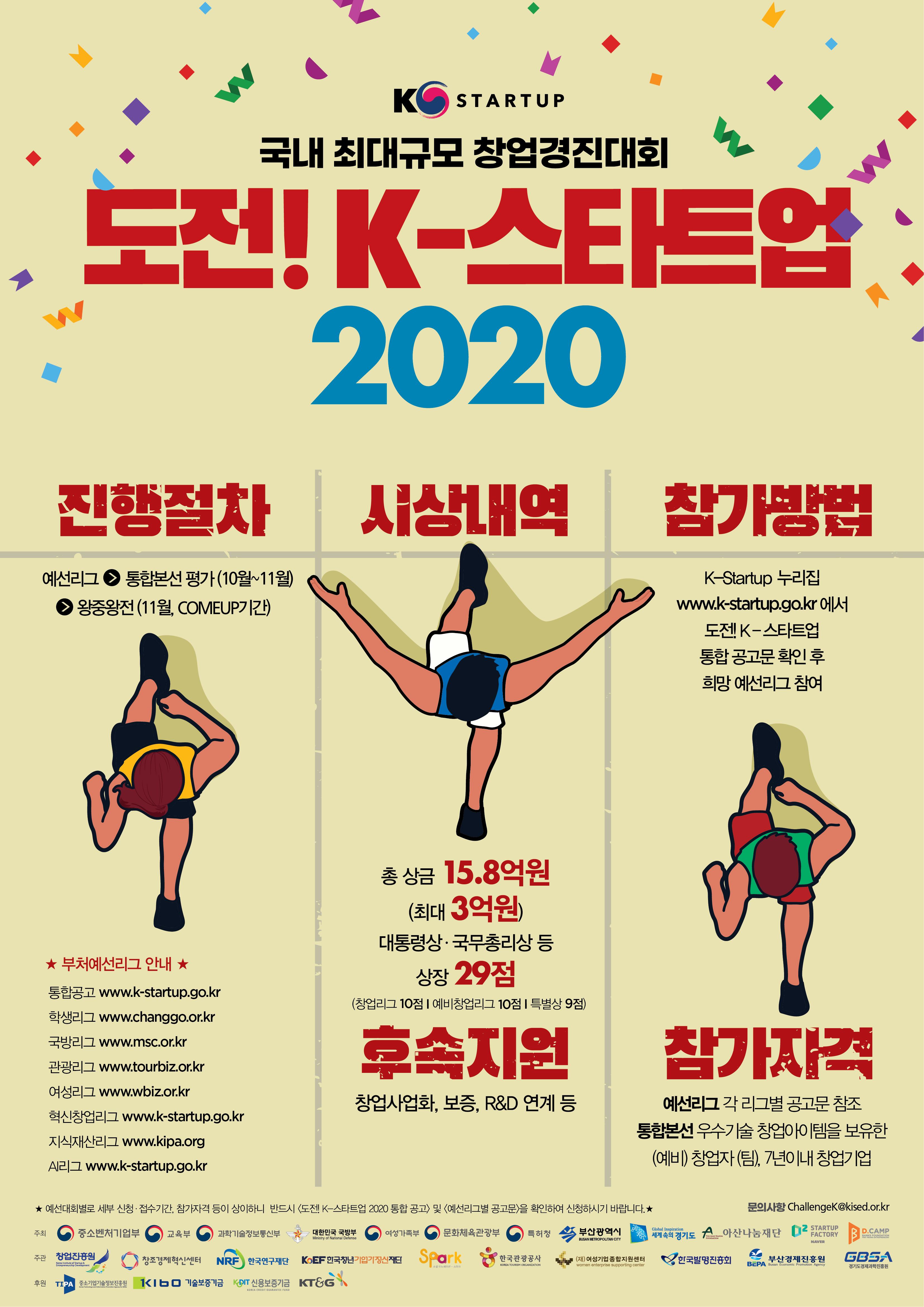 당신의 꿈에 도전하세요 !'도전! K-스타트업 2020'참가자